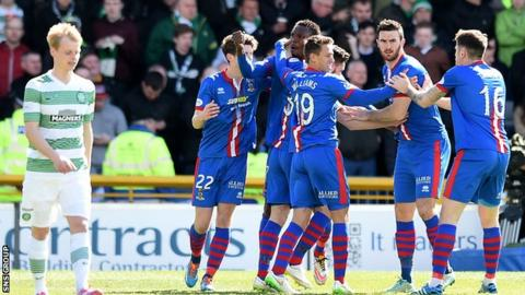 Inverness Caledonian Thistle drew 1-1 at home to Celtic last weekend