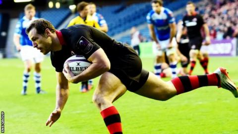 Tim Visser scored a first-half try for Edinburgh