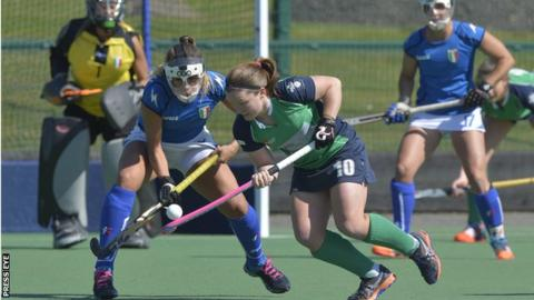 Shirley McCay on the attack for Ireland against Italy on Saturday