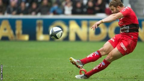 Wales full-back Leigh Halfpenny missed one kick out of eight to send Toulon into the final