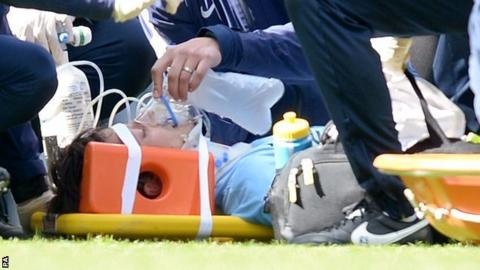 Manchester City's David Silva receives treatment during the win over West Ham