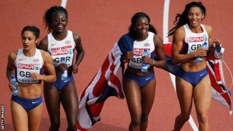 GB women's 4x100m team