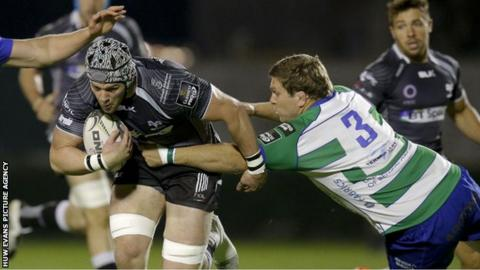 Dan Lydiate in action for Ospreys