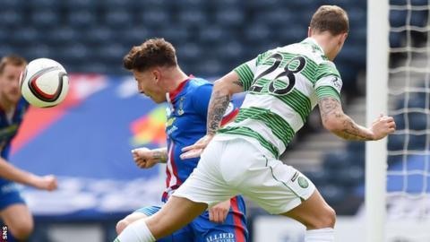 Caley Thistle's Josh Meekings denies Leigh Griffiths a goal