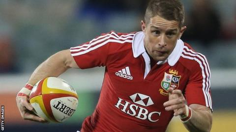 Shane Williams in action for the British and Irish Lions