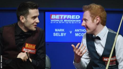 Mark Selby and Anthony McGill