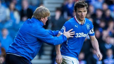 Lee McCulloch (right) was booed by sections of the Rangers support during the 2-2 draw with Falkirk