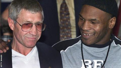 Ken Buchanan and former world heavyweight champion Mike Tyson