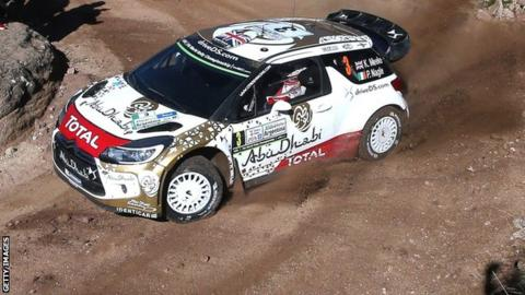 Kris Meeke on his way to victory in Rally Argentina in April