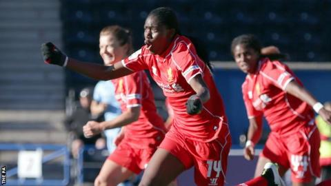 Liverpool's Asisat Oshoala scored the opener against Manchester City Women