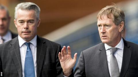 Paul Murray and Dave King await a decision from the Scottish Football Association