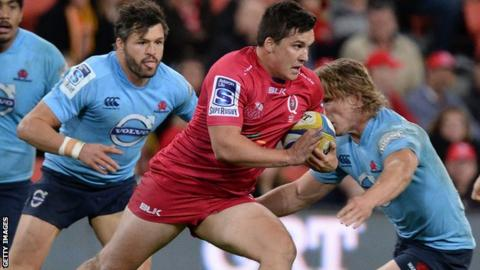 Sam Johnson, in action for Queensland Reds, will sign a two-year deal