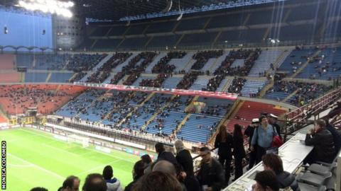 Milan fans protest