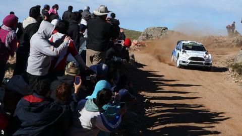 Elfyn Evans in action in Argentina
