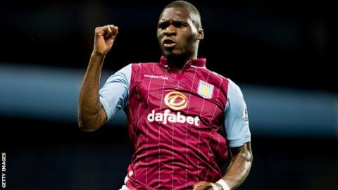 Aston Villa forward Christian Benteke