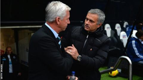 Alan Pardew and Jose Mourinho