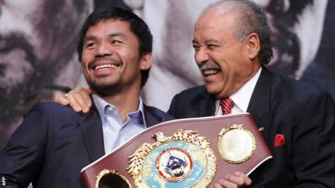 Manny Pacquiao and Francisco Valcarcel