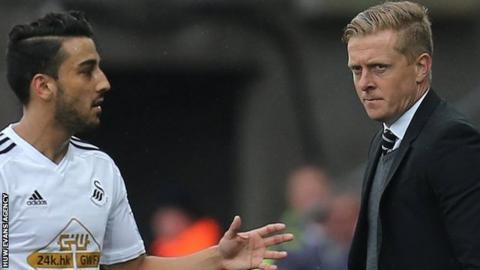 Neil Taylor and Garry Monk