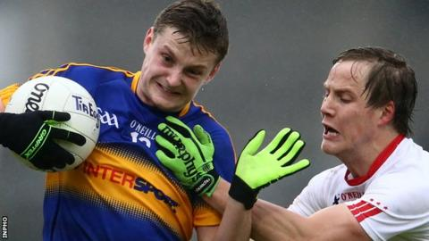 Tipperary's Conor Meyler under pressure from Kieran McGeary of Tyrone