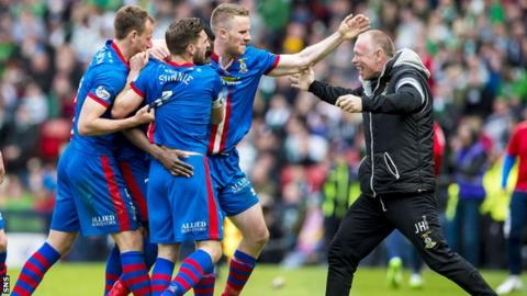 John Hughes (right) has led Inverness to their first ever Scottish Cup final