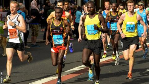 Joel Kipsang Kositany was up with the leaders from the early stages of Monday's race