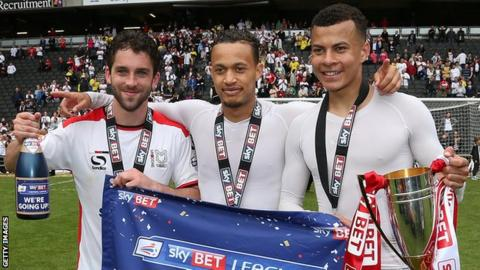 Will Grigg, Lewis Baker and Dele Alli