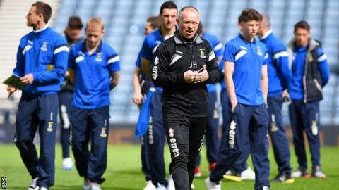 Inverness Caledonian Thistle manager John Hughes and his players