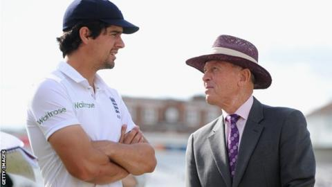 Alastair Cook and Geoffrey Boycott