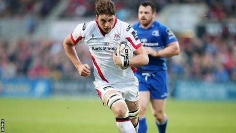 Iain Henderson takes the fight to Leinster in Ulster's recent inter-pro win at Kingspan Stadium