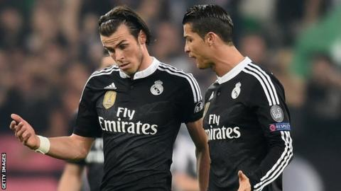 Gareth Bale, pictured with Cristiano Ronaldo