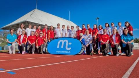 Manx Telecom Isle of Man team at National Sports Centre, Douglas