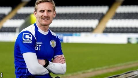 St Mirren player-manager Gary Teale