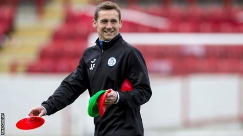 James Fowler at training with Queen of the South
