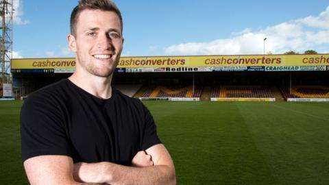 Motherwell midfielder Josh Law