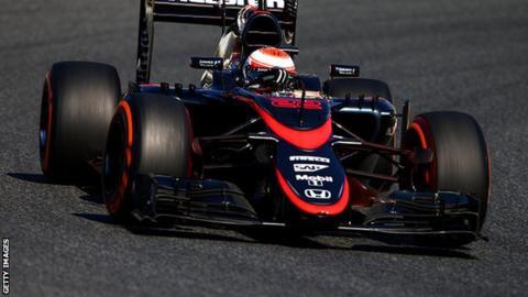 Jenson Button of McLaren