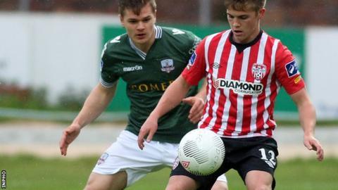 Galway's Colm Horgan challenges City midfielder Joshua Daniels
