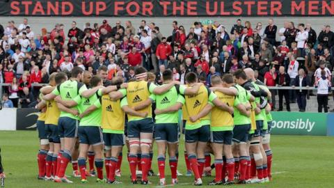 The Munster squad put the finishing touches to their preparations before the game