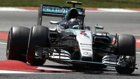 Nico Rosberg in action