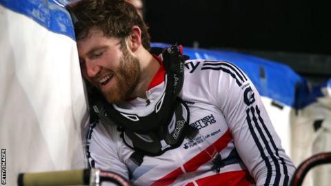 Great Britain's BMX rider Liam Phillips