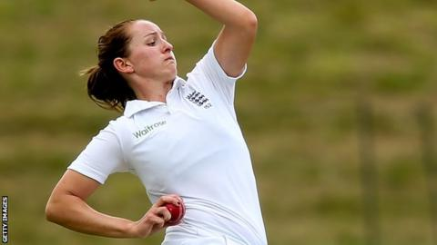 England bowler Kate Cross
