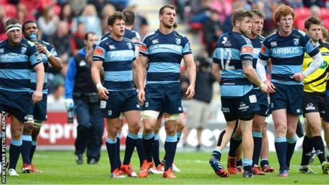 Cardiff Blues loss at Scarlets was their 14th Pro12 defeat of the season.