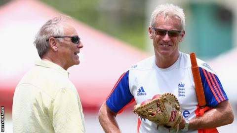 Colin Graves (left) and Peter Moores (right)