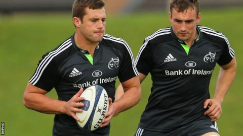 Munster duo CJ Stander and Tommy O'Donnell are named in the back row