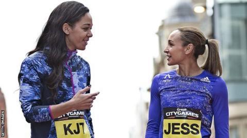 Katarina Johnson-Thompson and Jessica Ennis-Hill