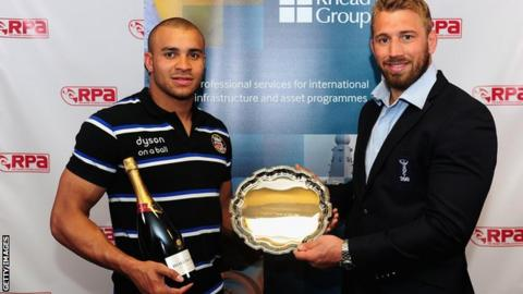 Jonathan Joseph and Chris Robshaw