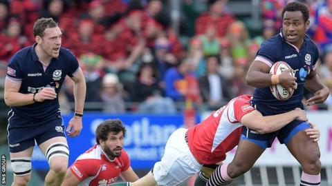 Scotland star Joe Nayacavou in action at Scotstoun last weekend