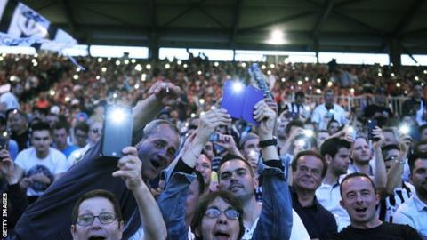 Fans at Stade Jean Bouin, Paris
