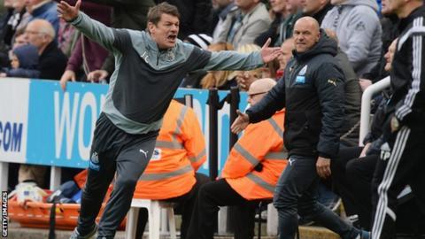 Newcastle caretaker coach John Carver