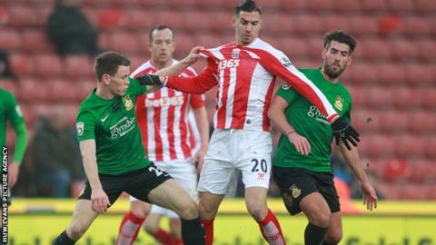 Wrexham lost to Stoke in this season's FA Cup