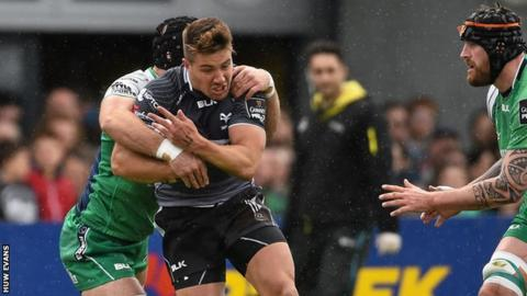Scrum-half Rhys Webb was one of Ospreys' three try scorers in Connacht